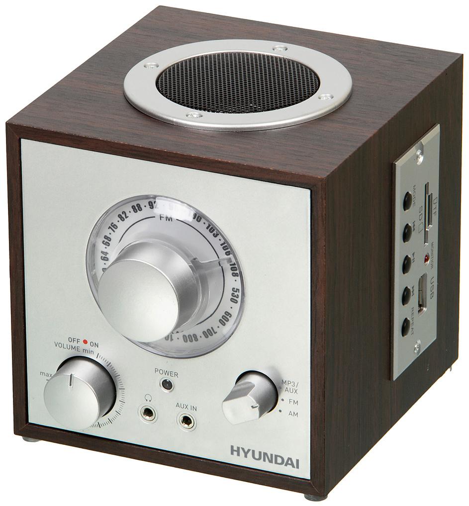 Радиоприемник настольный Hyundai H-SRS200 вишня USB SD/microSD