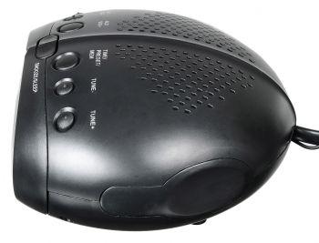 Радиобудильник Hyundai H-RCL220 черный LED подсв:красная часы:цифровые FM