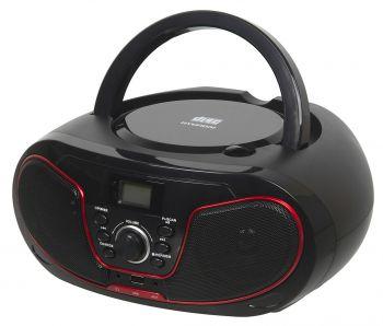 Аудиомагнитола Hyundai H-PCD180 черный/красный 4Вт/CD/CDRW/MP3/FM(dig)/USB