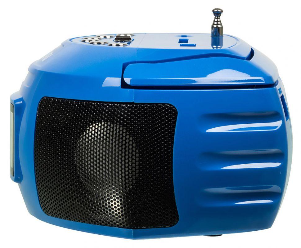 Аудиомагнитола Hyundai H-PAS160 синий 6Вт/MP3/FM(dig)/USB/SD