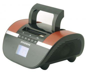 Аудиомагнитола Hyundai H-PAS240 черный/коричневый 6Вт/MP3/FM(dig)/USB/SD