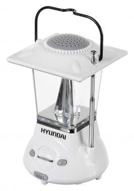 Радиоприемник портативный Hyundai H-RLC110 белый/серый