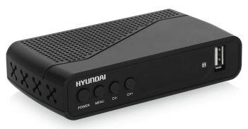 Ресивер DVB-T2 Hyundai H-DVB160 черный