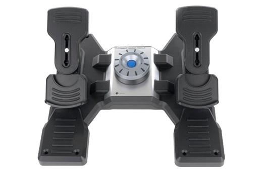 Авиа-педали Logitech G Saitek PRO Flight Rudder Pedals черный USB виброотдача