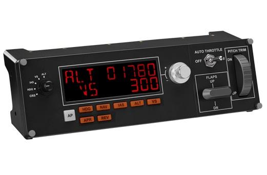 Панель управления Logitech G Saitek Pro Flight Multi Panel черный USB виброотдача