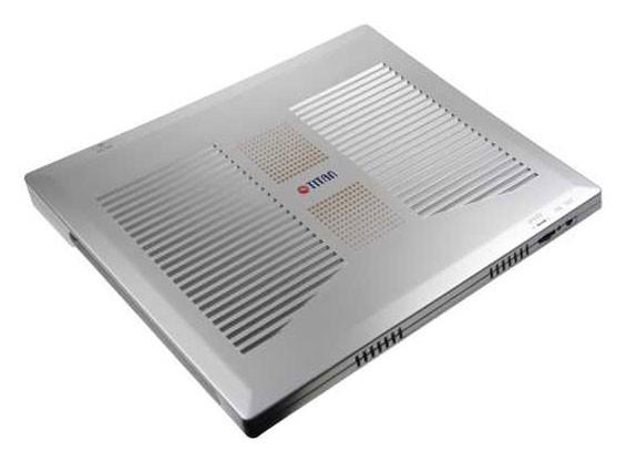 Подставка для ноутбука Titan TTC-G1TZ325x263x27.3мм 24дБ 4x 60ммFAN пластик серебристый