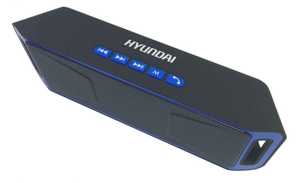 Колонка порт. Hyundai H-PAC140 черный/синий 6W 1.0 BT/3.5Jack/USB