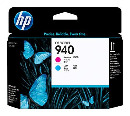 Печатающая головка HP 940 C4901A голубой/пурпурный для HP OJ Pro 8000/8500/8500a