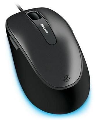 Мышь Microsoft Comfort 4500 серый/черный оптическая (1000dpi) USB (4but)