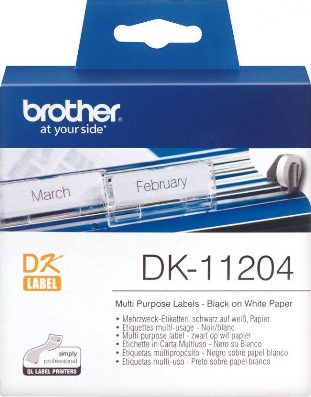 Картридж ленточный Brother DK11204 для Brother QL-570