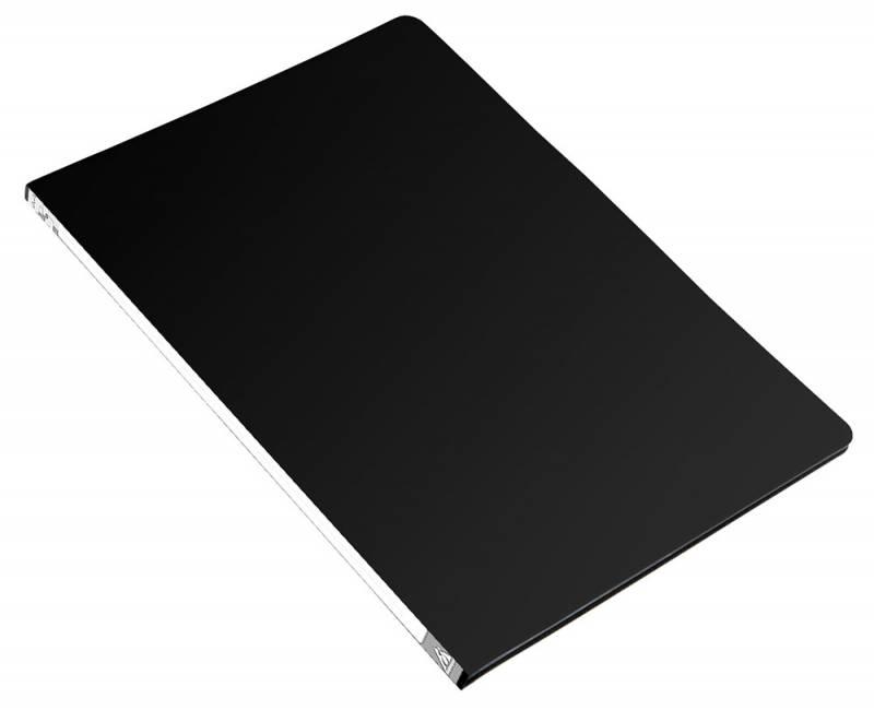 Анонс-изображение товара папка с бок.мет.приж. бюрократ черная, 0,5мм, pz05cblck/816834