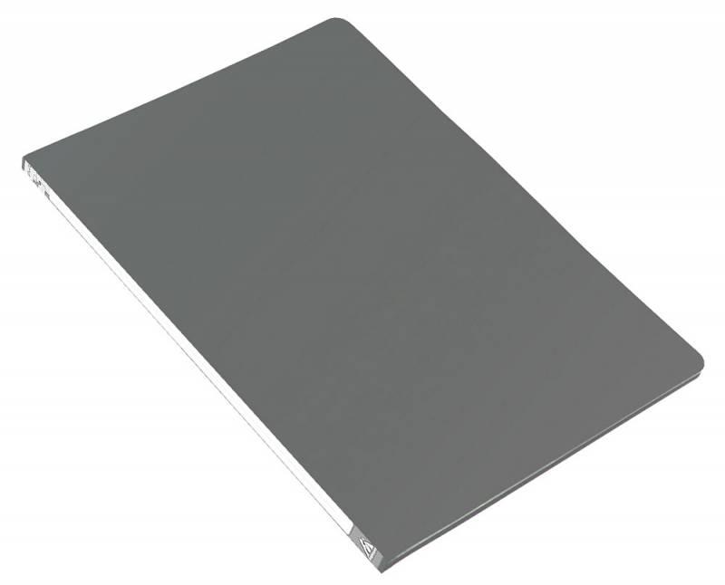 Анонс-изображение товара папка с бок.мет.приж. бюрократ серая, 0,5мм, pz05cgrey/816837