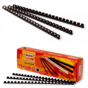 Пружины для переплета пластиковые Buro d=8мм A4 черный (100шт) BU-203b