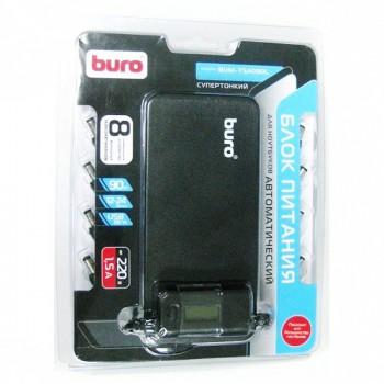 Блок питания Buro BUM-TSA090L автоматический 90W 12V-24V 8-connectors 5A 1xUSB 1A от бытовой электросети LСD индикатор