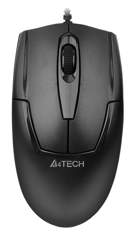 Мышь A4 V-Track Padless OP-540NU черный оптическая (1000dpi) USB (3but)