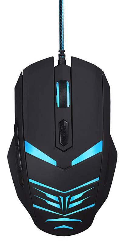 Мышь Oklick 745G LEGACY черный/голубой оптическая (2400dpi) USB (6but)
