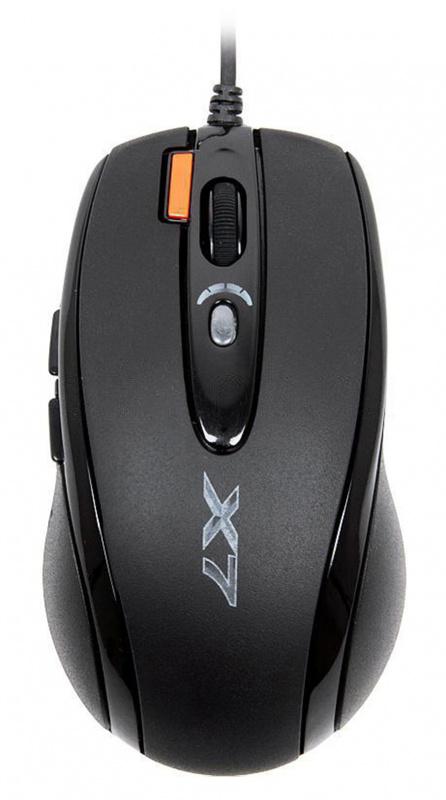 Мышь A4 X-718BK черный оптическая (3000dpi) USB (6but)