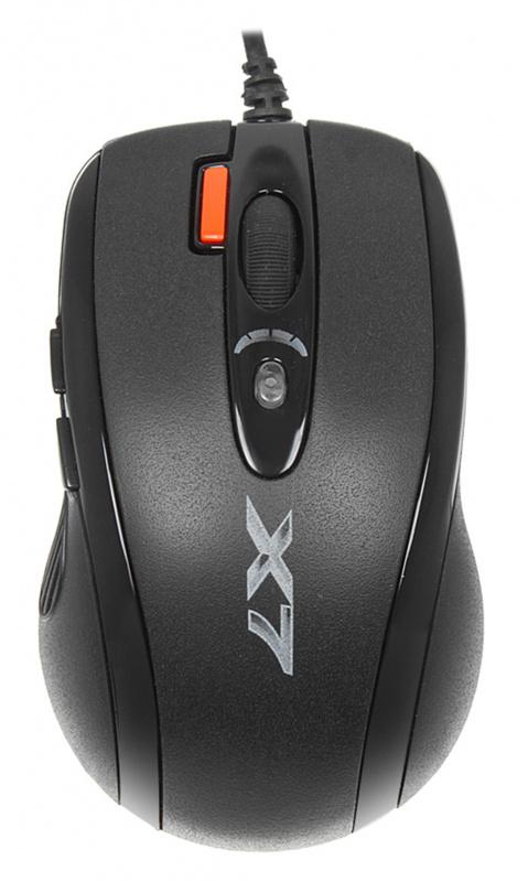 Мышь A4 XL-750MK черный лазерная (3600dpi) USB (6but)
