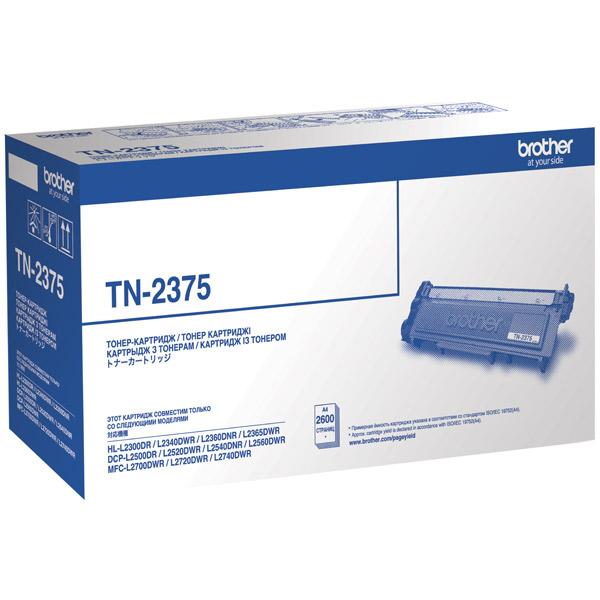 Картридж лазерный Brother TN2375 черный (2600стр.) для Brother HLL2300/2340/2360/2365/DCPL2500/2520/2560/MFC2700/2720/2740