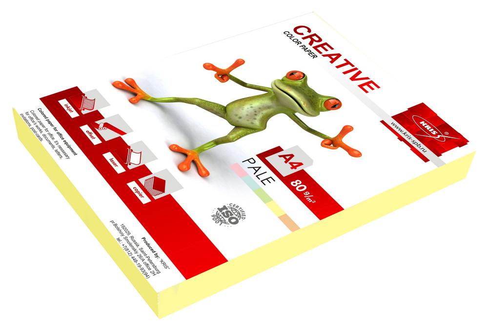 Бумага Creative БПPR-250Ж A4/80г/м2/250л./желтый пастель универсальная