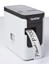 Термопринтер Brother P-touch PT-P700 (для печ.накл.) стационарный черный/белый