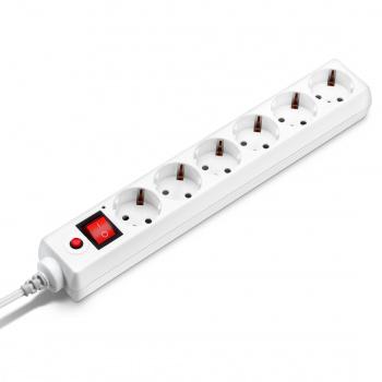 Сетевой фильтр Buro 600SH-1.8-W 1.8м (6 розеток) белый (коробка)