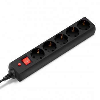Сетевой фильтр Buro 500SH-1.8-B 1.8м (5 розеток) черный (коробка)