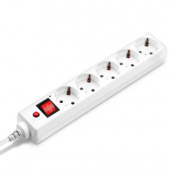 Сетевой фильтр Buro 500SH-1.8-UPS-W 1.8м (5 розеток) белый (коробка)